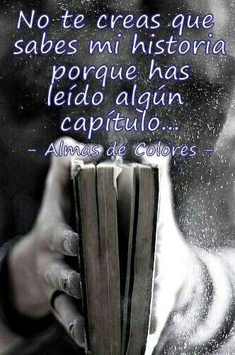 Nuestro peor error...juzgar un libro leyendo una sola página...así con todo.