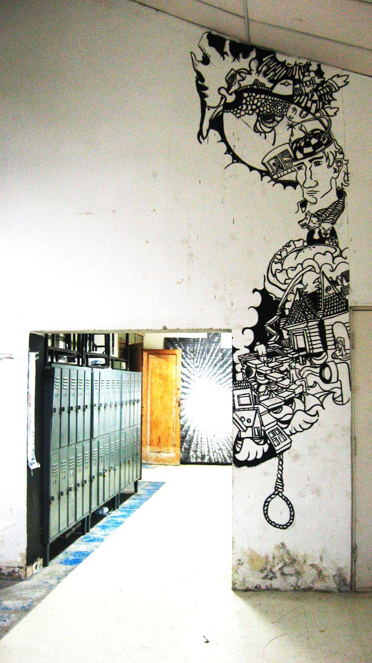 Paint Wall. Architecture La Serena University