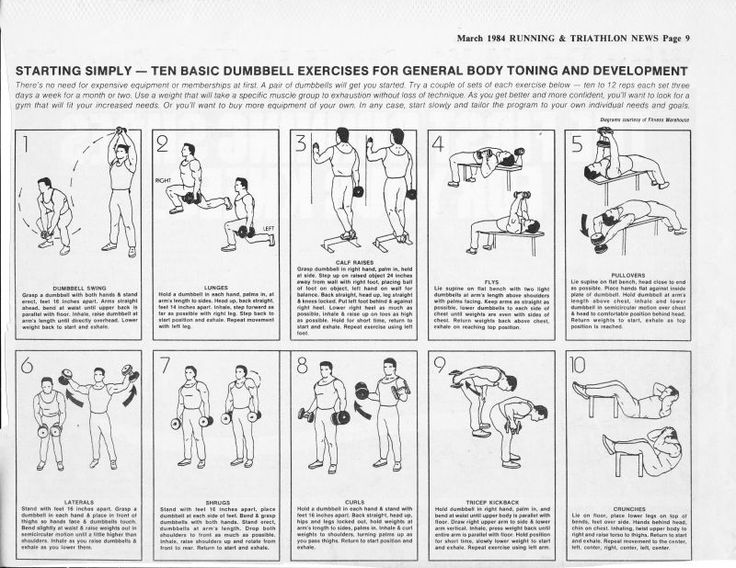Dumbbell exercises diagrams