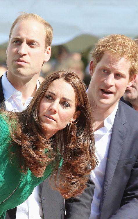 The Duke  Duchess of Cambridge and Prince Harry in Harrogate, July, 2014 #TourdeFrance