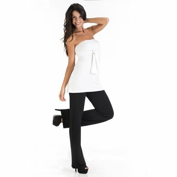 Top multiuso con manica lunga e alto polsino reversibile, tratto distintivo che fornisce versatilità al capo che gli consente di trasformarsi da sotto-giacca per l'ufficio in top senza maniche da sera. #WearEssential #7in1 #Moda
