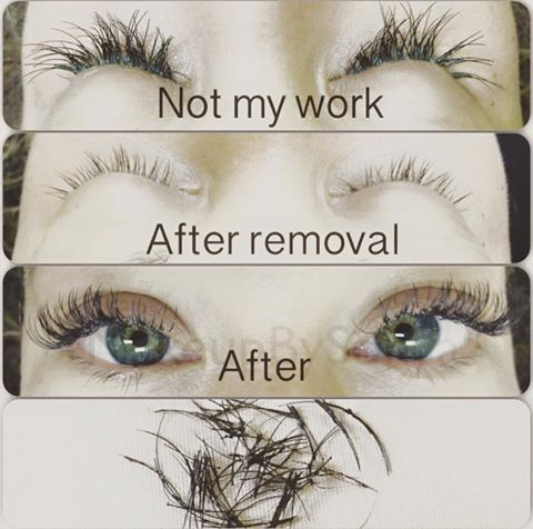 Be careful where you get your eyelash extensions applied! Although ...