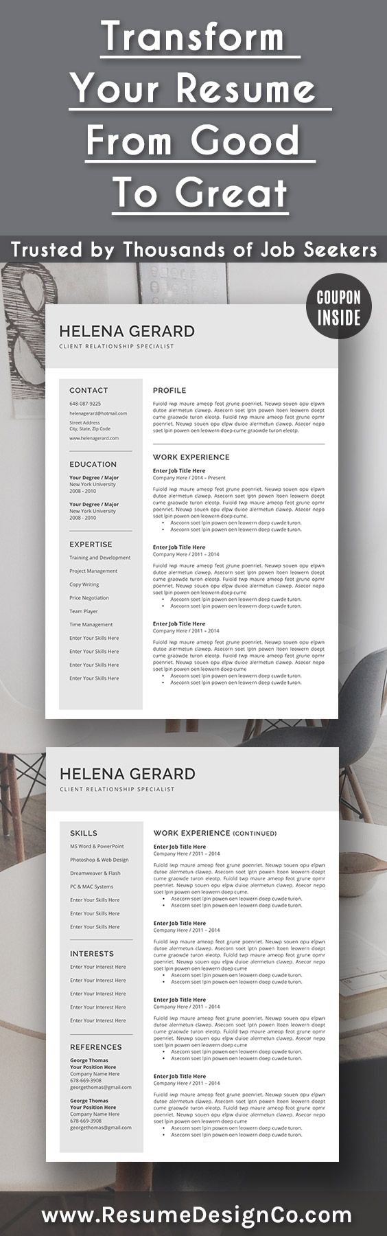 34 best Resume Templates images on Pinterest | Curriculum, Cv resume ...