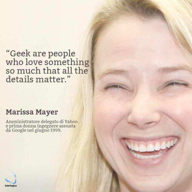 Compie oggi, 30 maggio 2014, 39 anni Marissa Mayer, attuale amministratore delegato di Yahoo, nonché prima donna ingegnere assunta da Google nel 1999. Con il suo lavoro ha contribuito, tra le altre cose, alla nascita del motore di ricerca e di Gmail. E' stata assunta come CEO di Yahoo durante la sua gravidanza.  #marissamayer #geekquote #auguriinterlogici #gmail #google #yahoo #CEO #amministratoredelegato #buoncompleanno