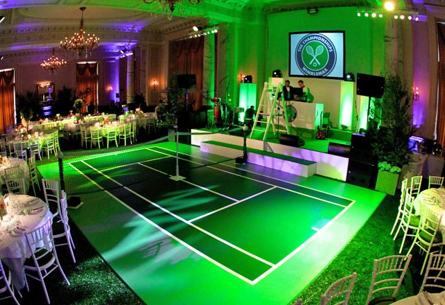Wimbledon theme party = awesome!- I'm in love with this! So awesome!
