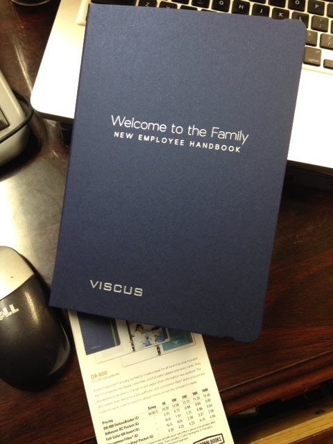 """Probably my favorite piece. No more lifeless 3-ring binders! This Employee Handbook says """"WE VALUE YOU and we want you to know it!"""" Love it!!! - http://ift.tt/1HQJd81"""