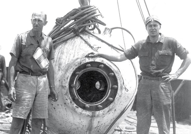 """Batiscafo """"Trieste"""" immersione nella Fossa delle Marianne (10.898 metri), 23 gennaio 1960"""