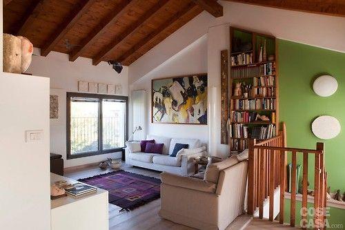cozy attic living room (via Cose di Casa)