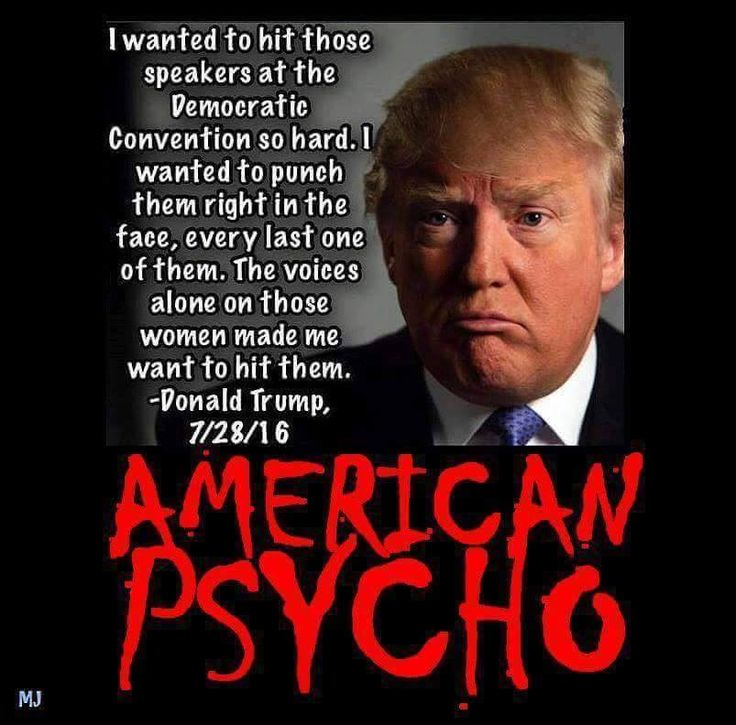 Image result for trump psycho