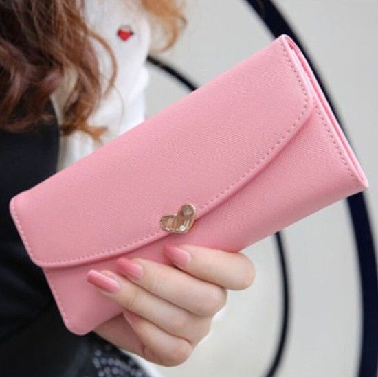 New Fashion Women's Leather Clutch Wallet Purse Card Lady Long Handbag Love Hot $9.50 (free shipping)