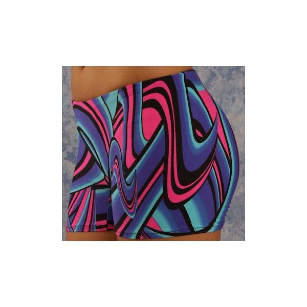 Pink Graffiti Shorts Vollyball Spendex Shorts for Women Running... ($17) ❤ liked on Polyvore featuring activewear, activewear shorts, dark olive and women's clothing