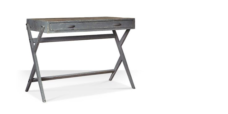Swoon Editions Desk, shabby chic style in grey - £269