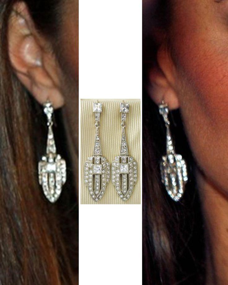 Art Deco paste earrings worn by HRH the Duchess of Cambridge.