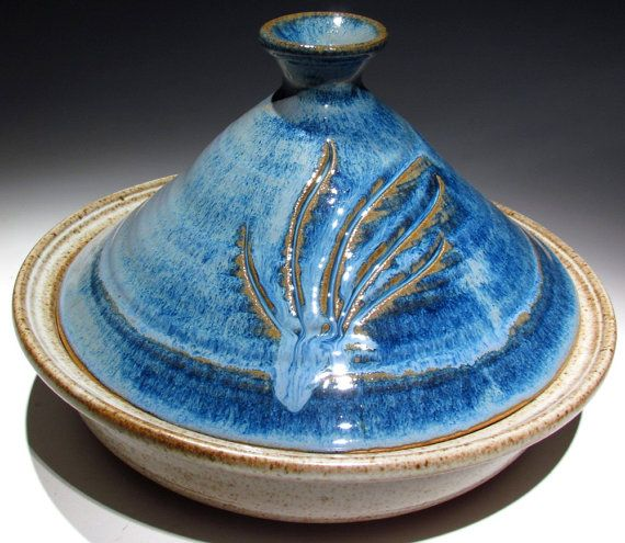 Handcrafted Pottery Tagine for Moroccan cuisine and by claycoyote, $95.00