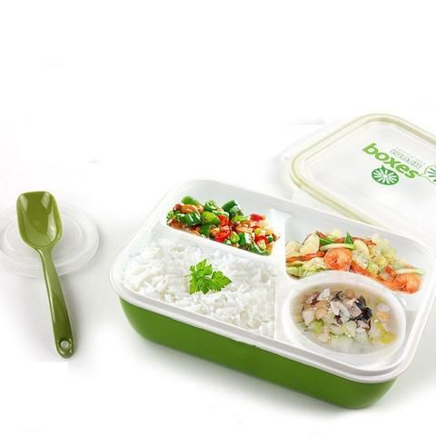 2 Style Lunch Box Kids Food Container Soup Cup Spoon Microwaveable Disposable Tableware Bento Lancheira Dinnerware Set - Hespirides Gifts