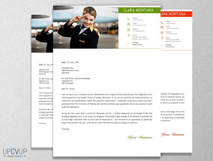 cabin crew flight attendant modern resume cv template cover letter design for word - Cover Letter For Cabin Crew