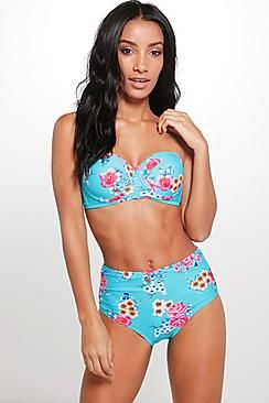 Molly Floral Underwired Bandeau Bikini