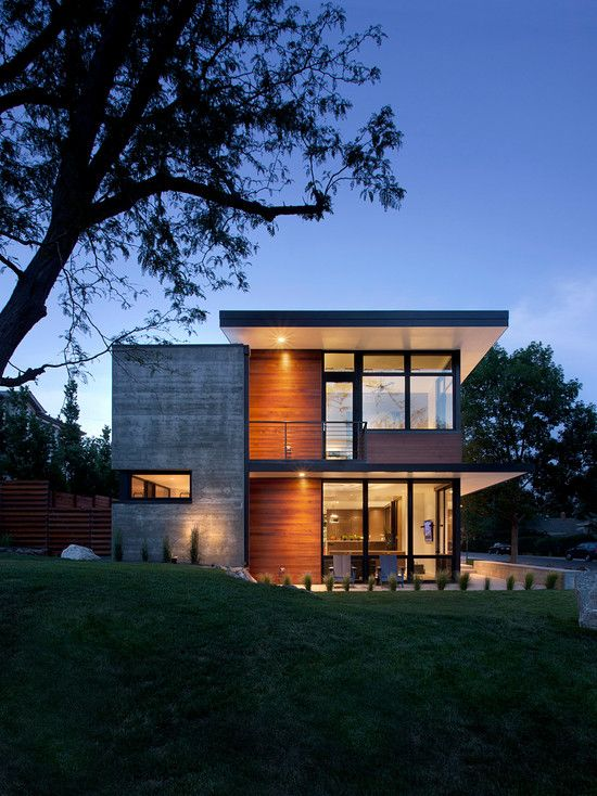 Best 25 contemporary home exteriors ideas on pinterest for Large front windows house