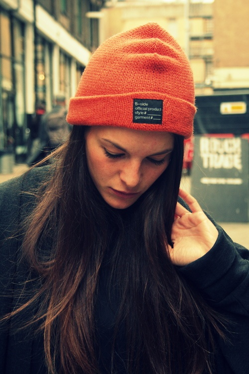 B-side// Beanie Style // http://www.b-sidebywale.com/product-beanie-style-tag-rust.html