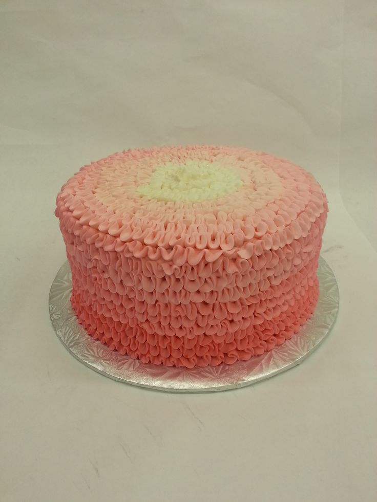Ruffles and frills make for birthday thrills! Our buttercream ruffle cake.