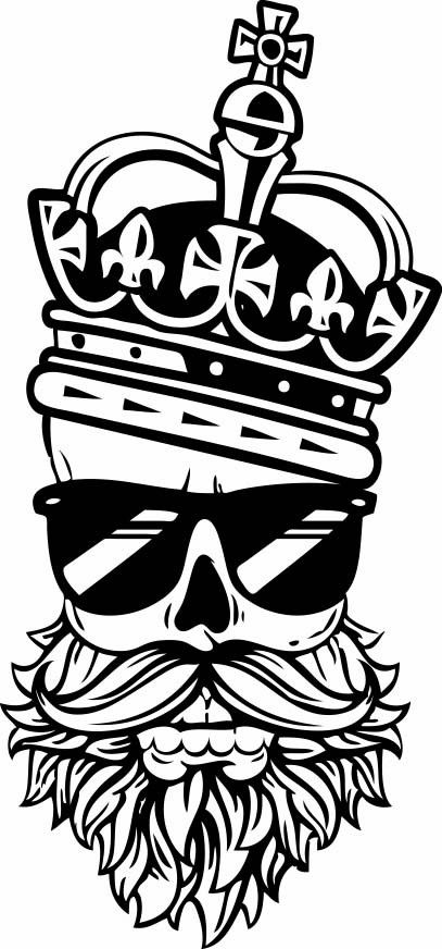 Beard King Vinyl Sticker