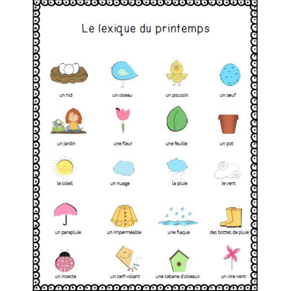 cahier d 39 activit s du printemps outils scolaire educatrice pinterest cahier d activit s. Black Bedroom Furniture Sets. Home Design Ideas