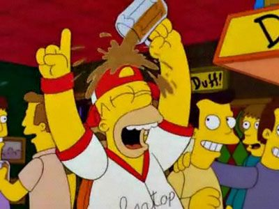 """Woo!! Go Isotopes! ...We did it, baby! Woo!!""  This is what it's like in Chicago right now with the Blackhawks win."