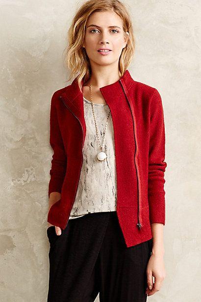 Kai Boiled Wool Jacket - #BoiledWool #Anthropologie #WinterSweater