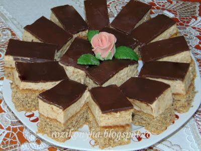 Rozi Erdélyi konyhája: Diókrémes-kávés sütemény