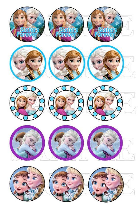 Bottle Cap Images Frozen Princesses Frozen by YourBabyDays