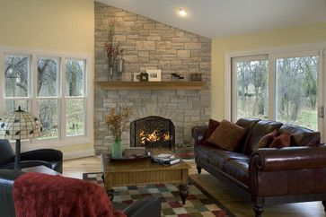 Family Room Fireplace - traditional - family room - chicago - Great Rooms Designers & Builders