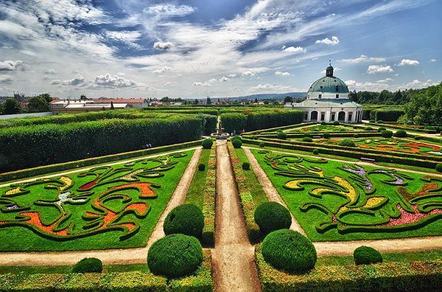 Gardens and Castle at Kroměříž | HOME SWEET WORLD. Kroměříž is a Moravian town in the Zlin Region of the Czech Republic.