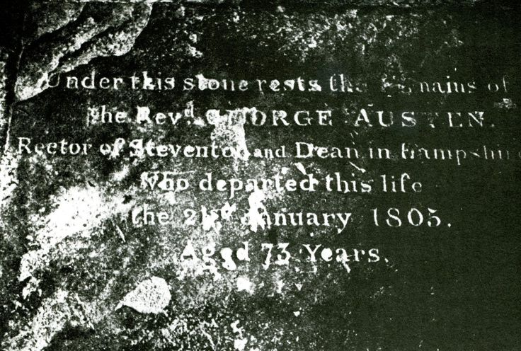 The Reverend Austen's tombstone in the graveyard of St Swithin's, Walcot