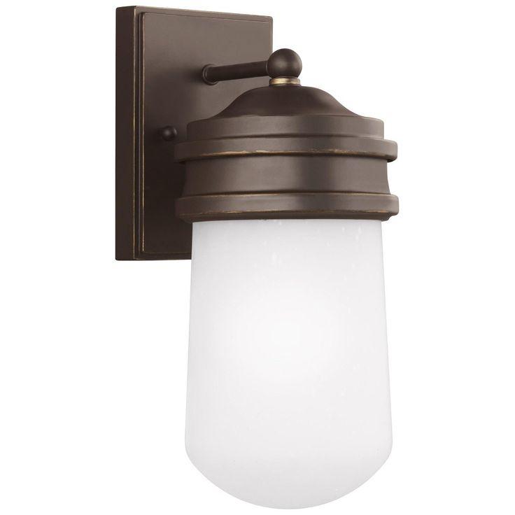 Sea Gull Lighting Aluminum Small One Light Outdoor Wall Lantern