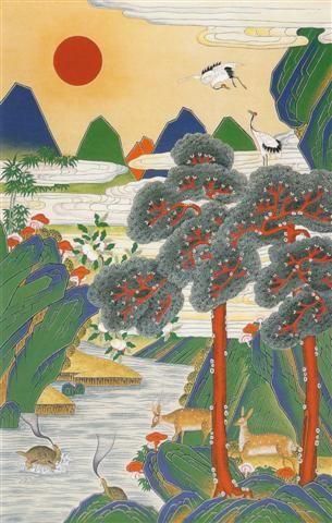 Jackie-Kim-Korean-Folk-Art-Min-Hwa-11.jpg (305×480)