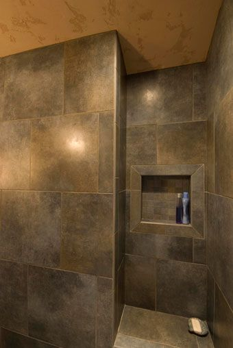 shower built in shelf - Google Search