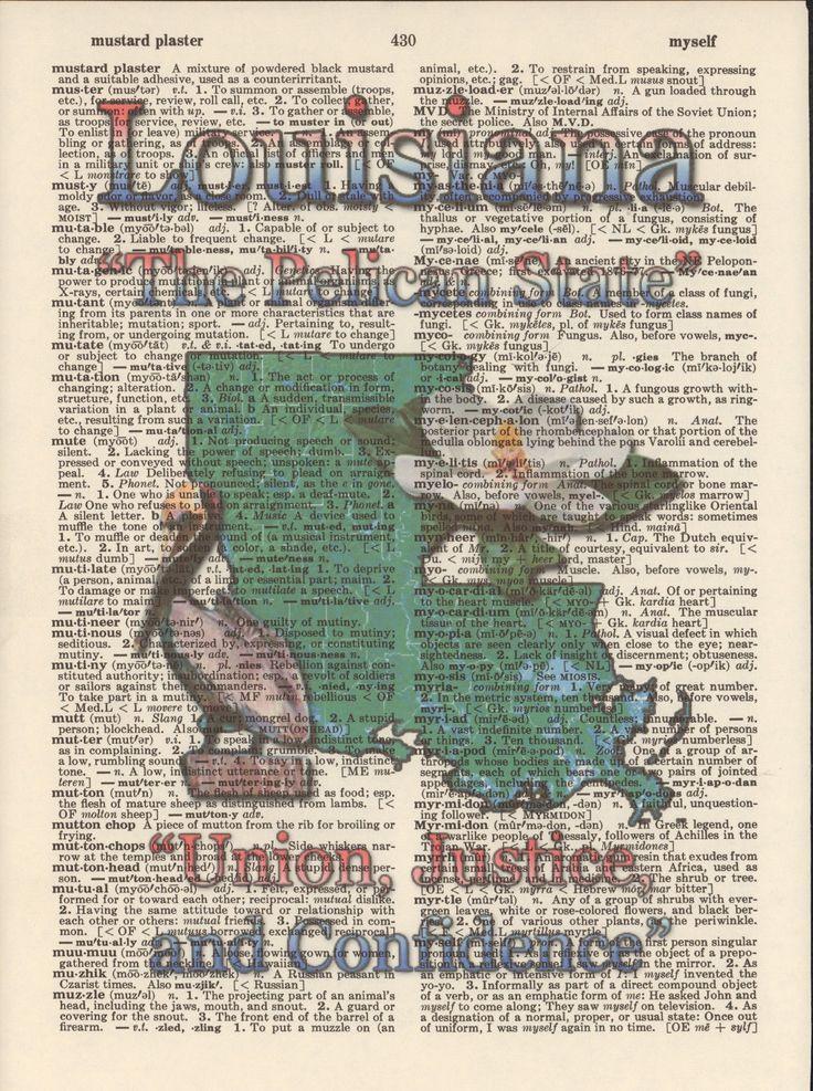 Louisiana Map Decor%0A Louisiana State Map Symbols Altered Art Print Upcycled Vintage Dictionary  Page