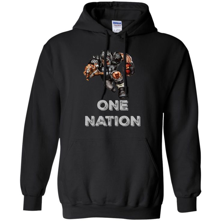 One Nation Football Player Pullover Hoodie 8 oz