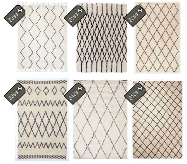 morroccan shag rugs // love the two on the left