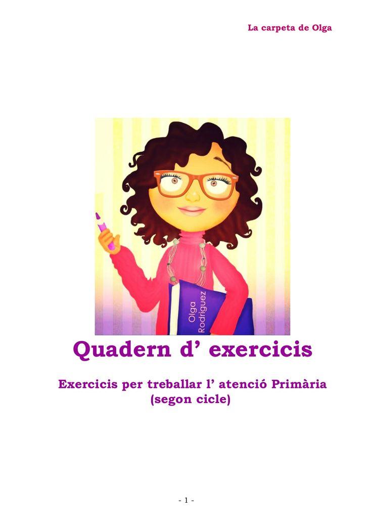 Quadern exercicis (cat) by Olga Rodriguez via slideshare
