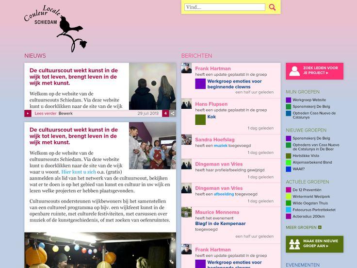 Website voor Cultuurscouts Schiedam: www.couleurlocaleschiedam.nl