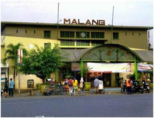 Train station at Malang, East Java, Indonesia