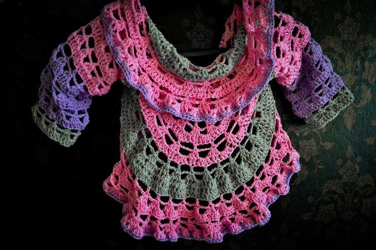 Sweterek z koła na szydełku/ cardigan crochet Subtitles Eng