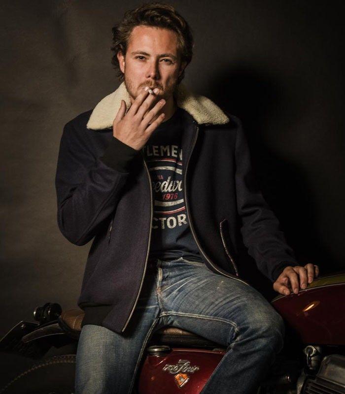 Blouson moto Howard by gentlemen's Factory #blousonmoto #motorcyclejacket #vintagestyle #equipementmotard #blousonlaine #blousonvintage #Honda