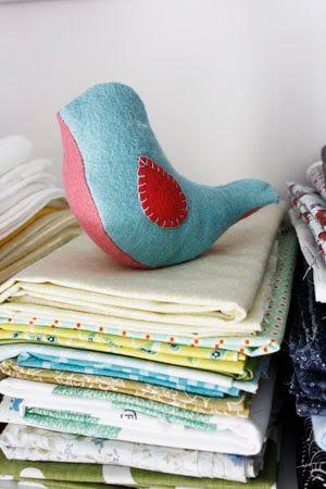 DIY Fabric Bird Tutorial + Free Printable | Lavender's Blue Designs