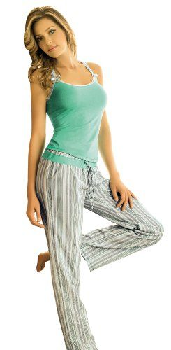Adriana Arango 2 Piece Women's Striped Pajama « Clothing Impulse