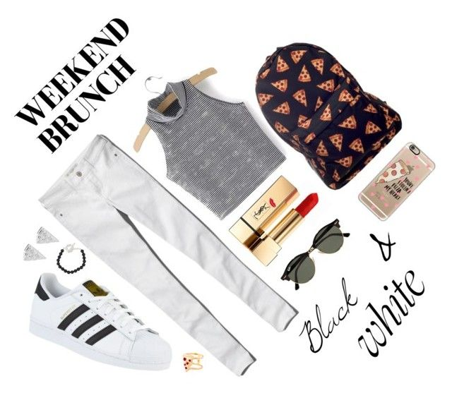 """Untitled #9"" by luc-ka on Polyvore featuring Abercrombie & Fitch, adidas, Yves Saint Laurent, Ray-Ban, Tiffany & Co., Glenda López, Rock 'N Rose and Casetify"