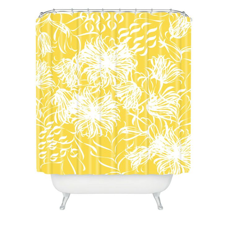 Bright Yellow Bathroom Colors: 17 Best Ideas About Yellow Shower Curtains On Pinterest