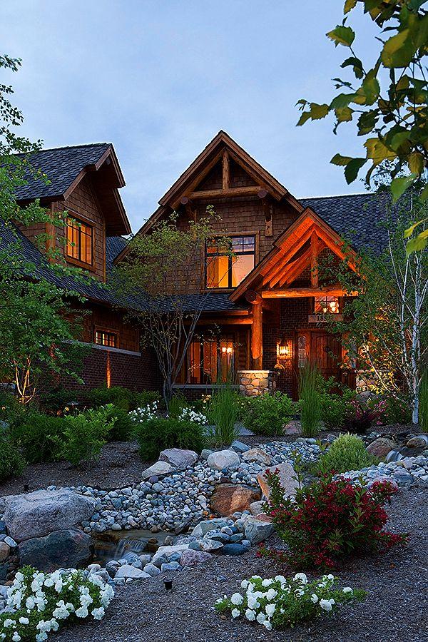 146 best log homes images on pinterest log houses for Custom dream home floor plans