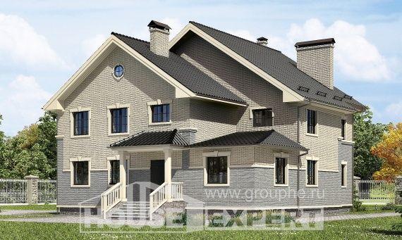 300-004-R Projekt domu dwukondygnacyjnego, nowoczesny domek wiejski z bloków, Bydgoszcz